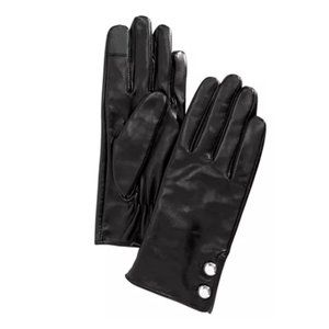 MICHAEL KORS Leather Two-Button Gloves